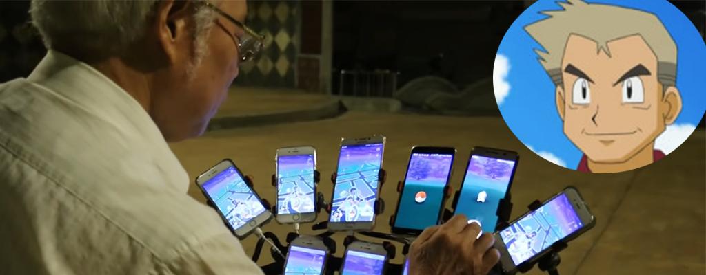 70-Jähriger liebt Pokémon GO, zockt auf 11 Smartphones gleichzeitig