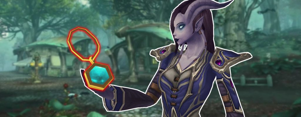 WoW Heart of Azeroth Draenei Holding title