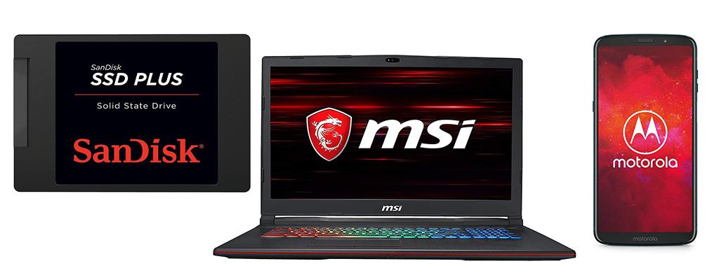 Amazon Angebote – SanDisk SSD 480 GB, MSI Gaming-Notebooks