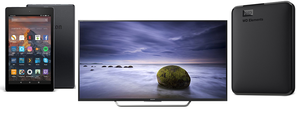 Amazon Angebote – Sony UHD-TV, SSDs, Pringles und Fire HD 8-Tablet