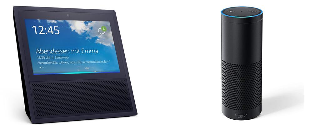 Echo Show, Echo Plus und Fire HD 8-Tablet im Angebot bei Amazon