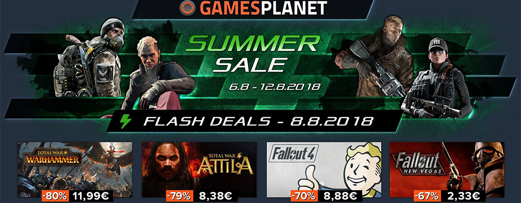 Gamesplanet Summer Sale Tag 3: Fallout 4 und Watch Dogs 2 im Flash-Deal