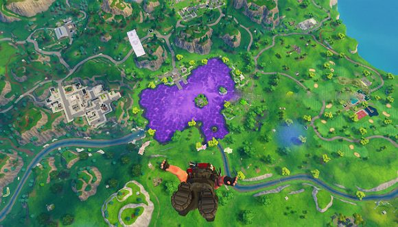 Fortnite: Space-Würfel fällt in Loot-Lake, verwandelt See in lila Trampolin
