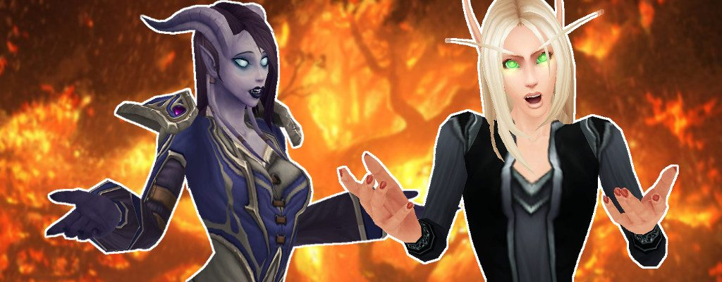 WoW Asking blood elf Draenei title