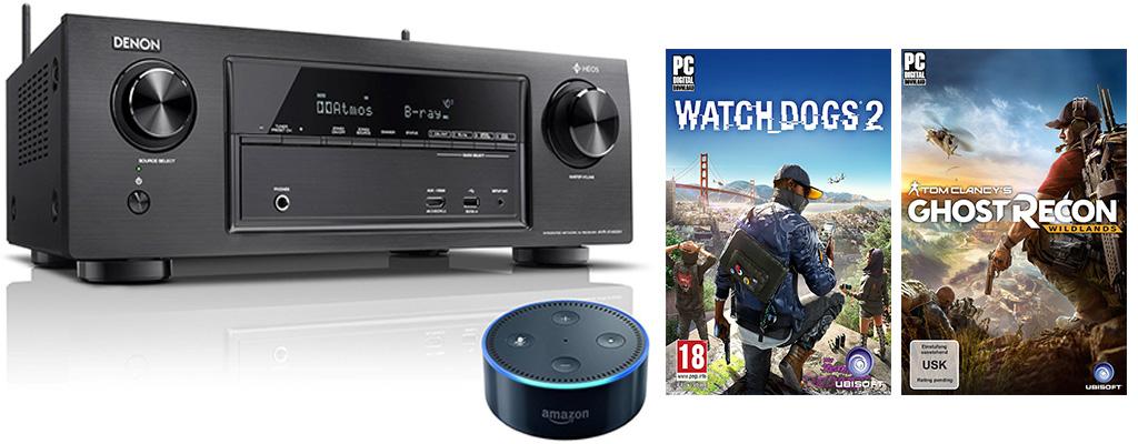 Amazon Herbst-Angebote: Wildlands, Watch Dogs 2 und Denon AV-Receiver