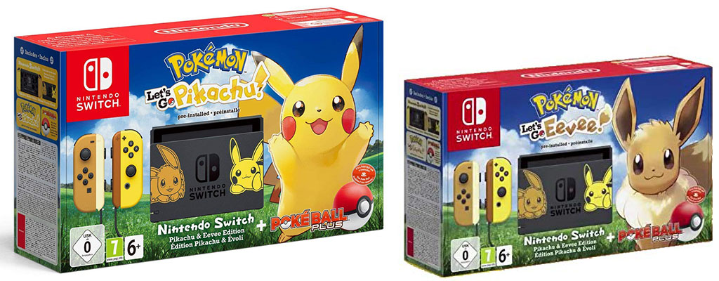 Nintendo Switch Pokemon Let S Go Edition Bundle Fur 429