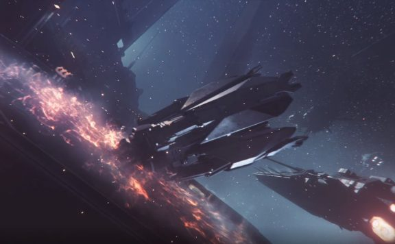 EVE Project Nova Trailer Drop Pod auf Schaiff