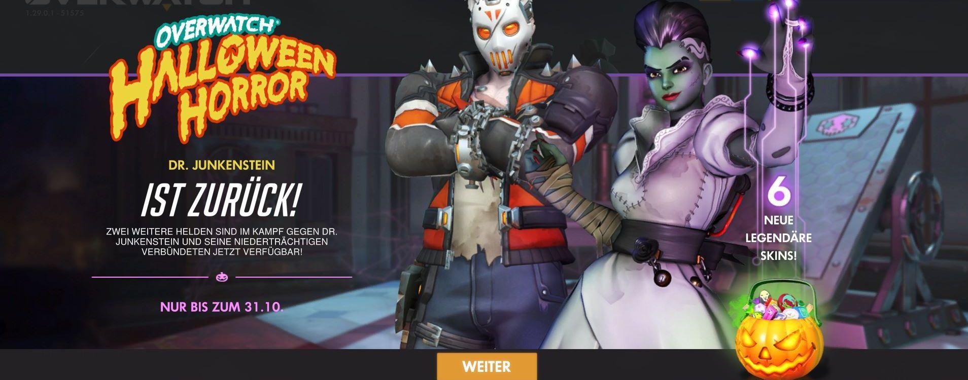 Das Overwatch Halloween-Event 2018 beginnt, seht hier alle Skins
