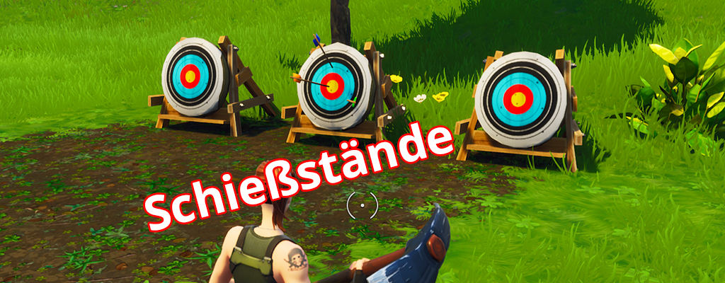 Fortnite: Schießstände in Wailing Woods, Retail Row und Paradise Palms
