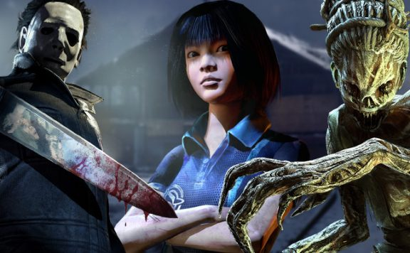 Dead by Daylight Killer Myers Hag Survivor Feng Min title