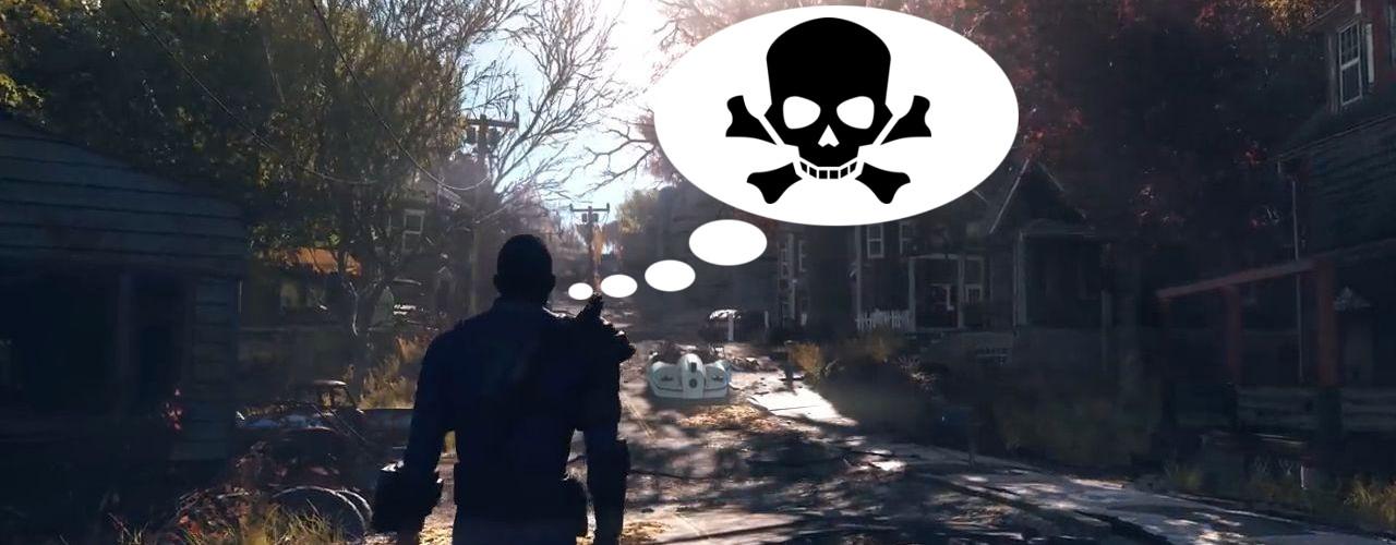 Spieler in Fallout 76 ist unverwüstlich, will nur noch sterben