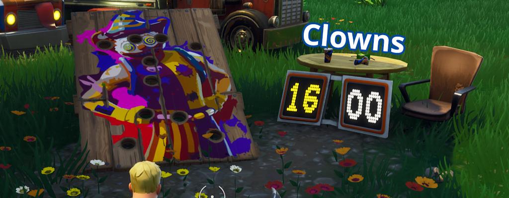 Fortnite: So findet ihr alle Karnevalclown-Zielscheiben in Season 9