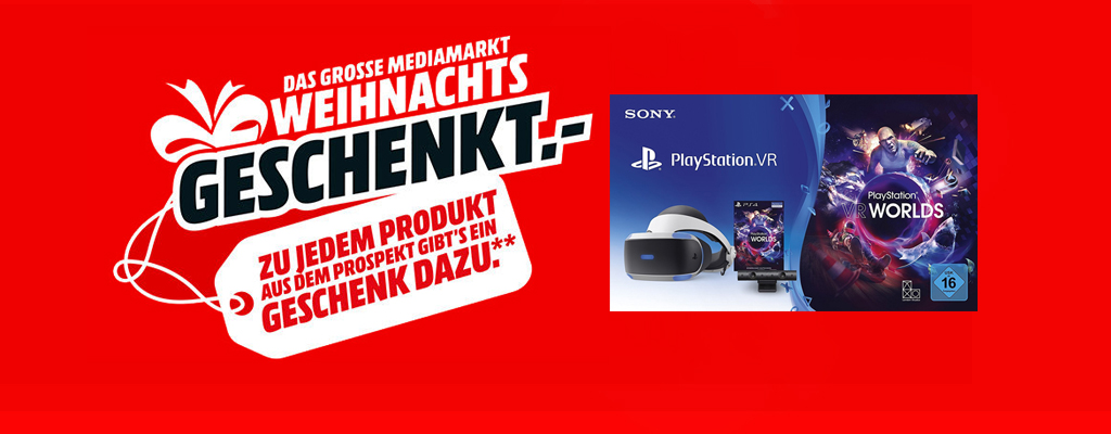 Playstation 4 Pro, Galaxy S2 und PSVR im Weihnachtssale
