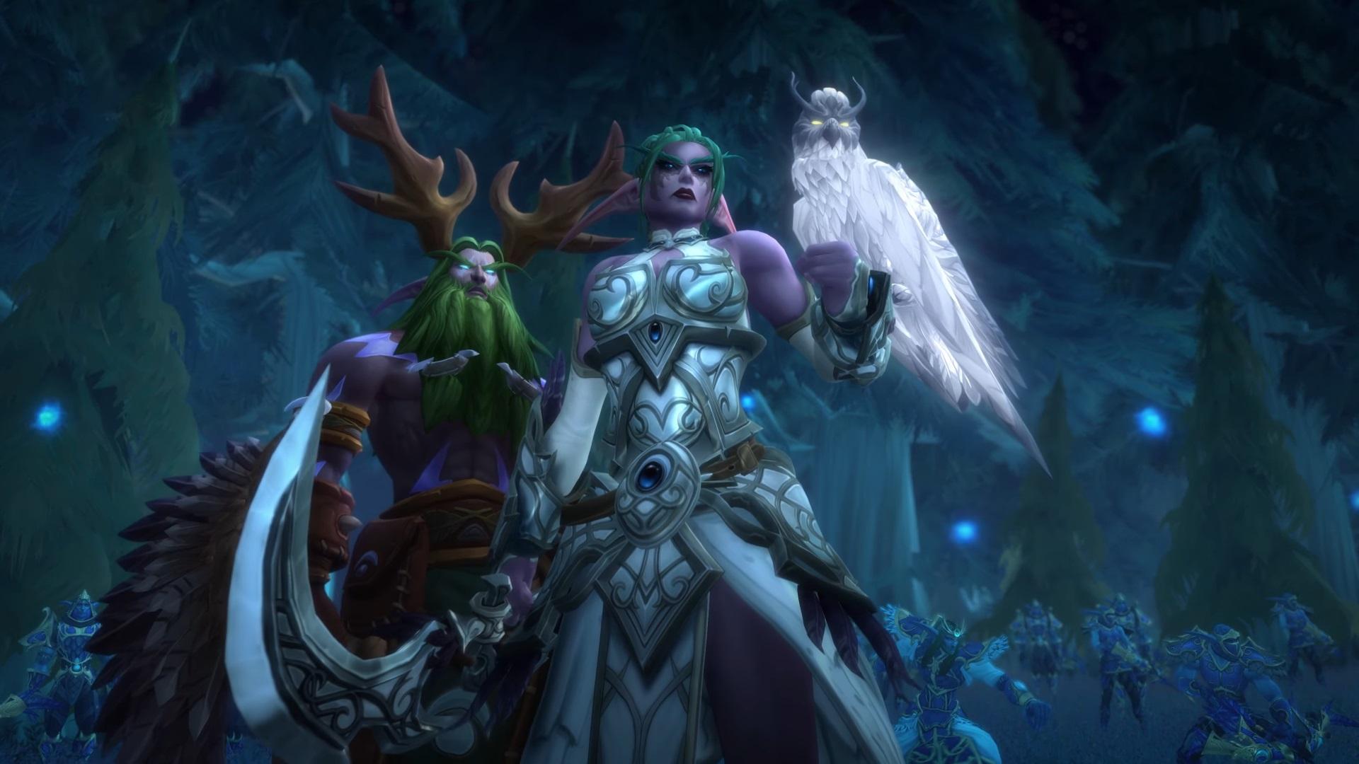 WoW Tyrande Malfurion Angry Night elves