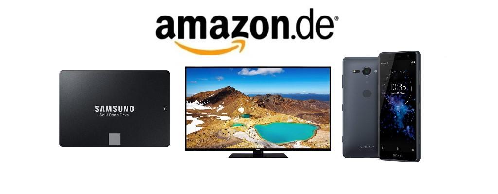 Amazon-Angebote: Samsung-SSD, UHD-TVs und Smartphones reduziert