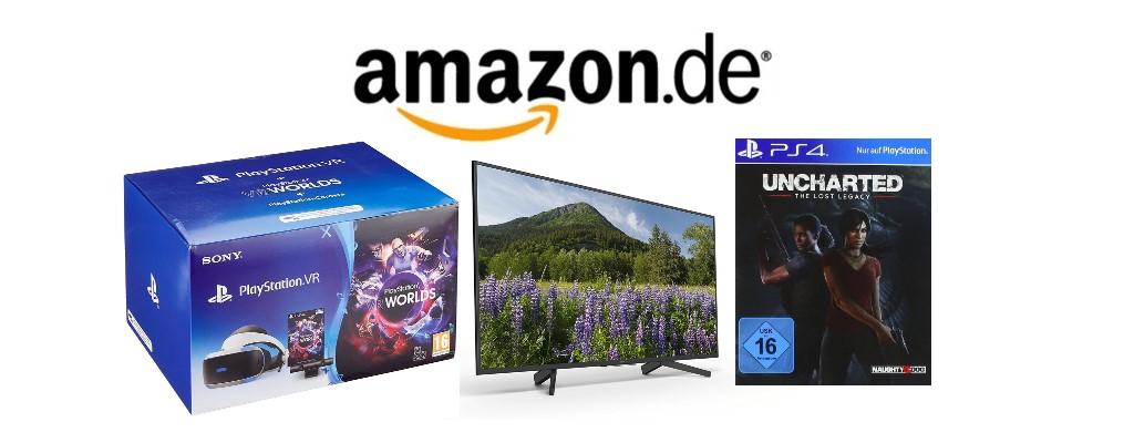 Amazon.de: PlayStation VR-Bundle, Sony-UHD-TVs und PS4-Spiele reduziert