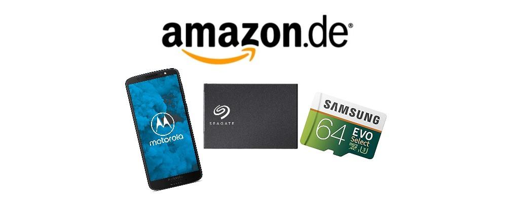 Amazon-Angebote: Moto G6, SSDs & weitere Speicherprodukte reduziert