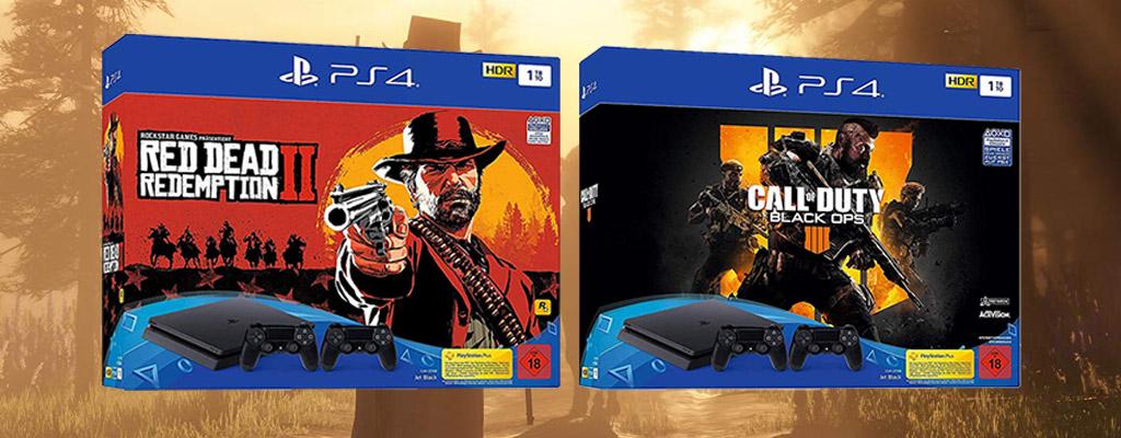Amazon Cyber Week: PS4-Bundle Angebot mit RDR 2 oder Black Ops 4