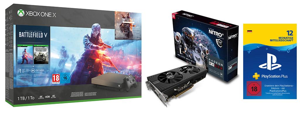 ebay-Angebote zum Black Friday: Xbox One X-Bundle und 12 Monate PS Plus