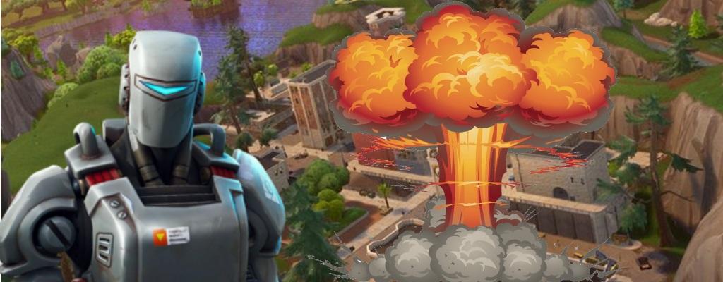 Leak in Fortnite prophezeit: Killer-Roboter greifen Tilted Towers an