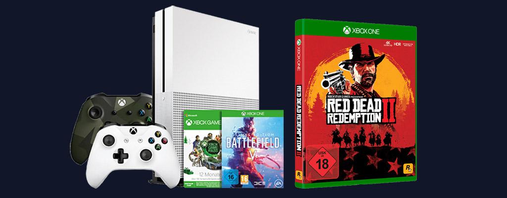 MediaMarkt Prospekt Geschenke-Flyer: Xbox One S Bundle mit RDR 2
