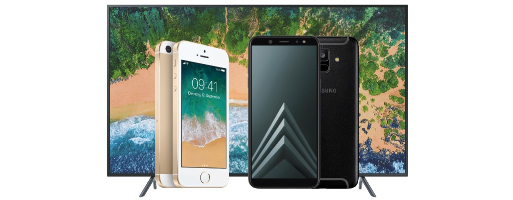 MediaMarkt: iPhone SE, Galaxy A6 und riesiger UHD-TV stark reduziert