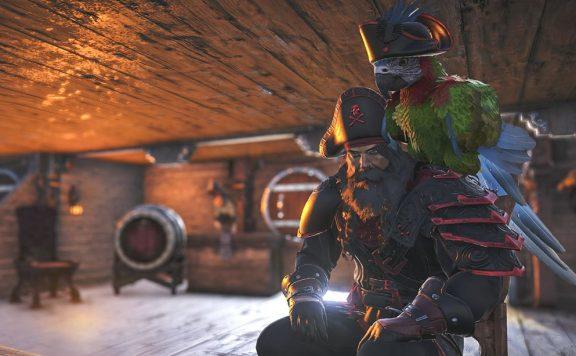 Atlas Pirat mit Papagei