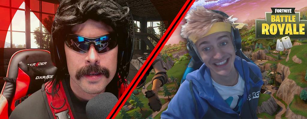 Fortnite: DrDisrespect spielt mit Ninja auf Twitch – Drückt ihm einen Spruch rein