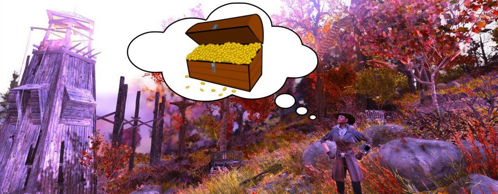 In Fallout 76 ist ein kleiner Schatz in einem Kletterwald versteckt