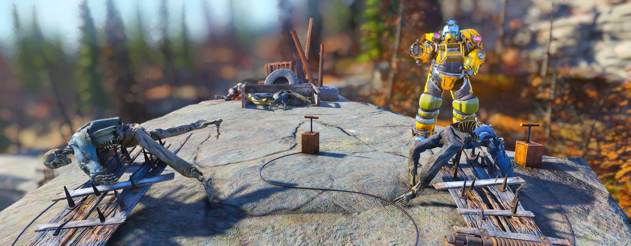 Langeweile in Fallout 76? Schießt doch ein paar Leichen durch die Luft