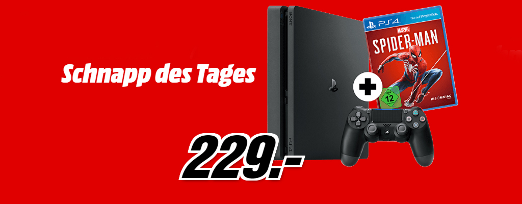 Playstation 4 Spider Man Bundle für 229 Euro – nur heute