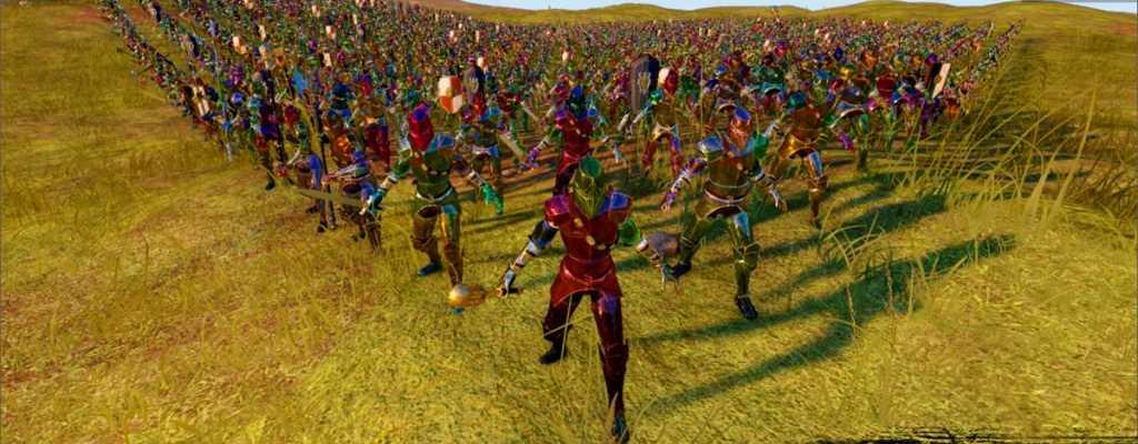 So sieht's aus, wenn ein MMORPG fast 3000 Charaktere in eine massive Schlacht steckt