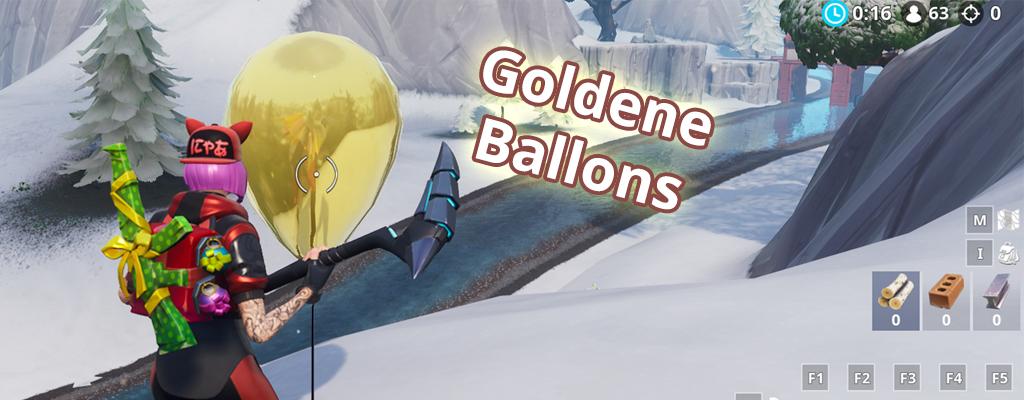 Fortnite: Bringe goldene Luftballons zum Platzen – Map mit Fundorten