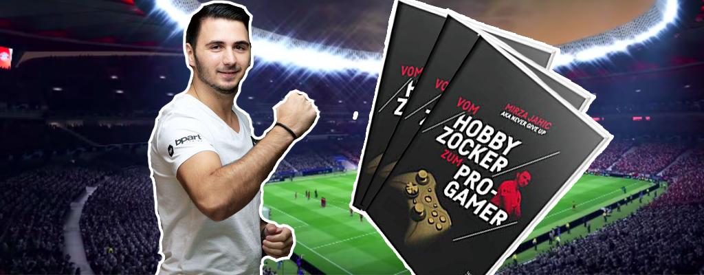 Gewinnt ein Buch über Pro-Gaming vom FIFA-Pro Mirza Jahic