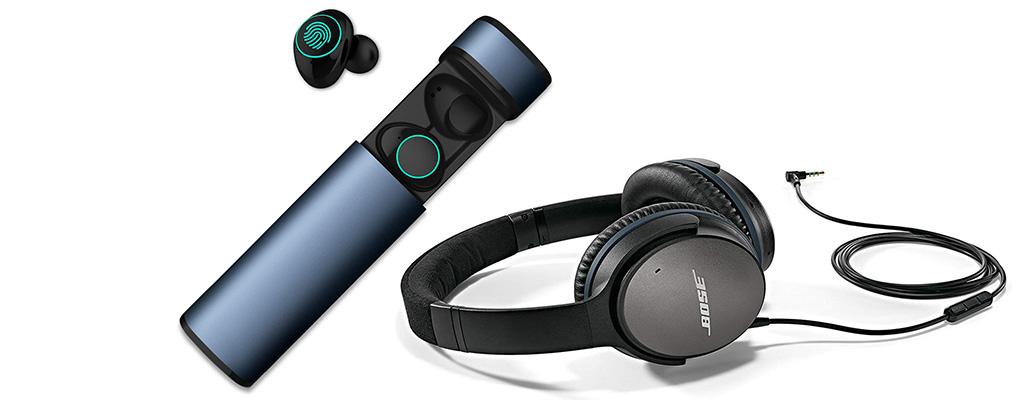 Amazon Angebote: HolyHigh In-Ear Kopfhörer und Bose QuietComfort 25