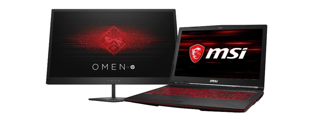 Notebooksbilliger: Flotter HP-Monitor & MSI-Notebook für Gamer reduziert