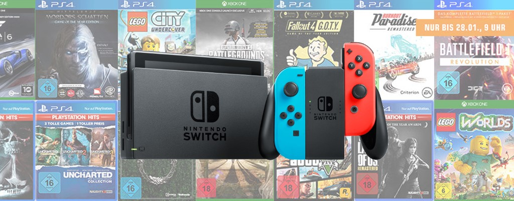 Saturn Prospekt: 3 Spiele für 49€ und Nintendo Switch zum Bestpreis