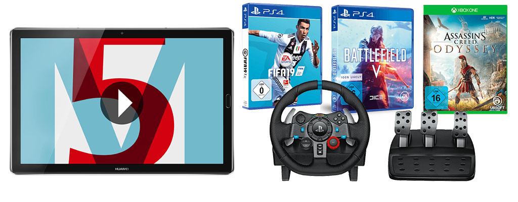 Saturn Prospekt Angebote: Huawei Tablet M5, PS4 und Xbox One