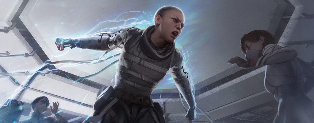 Apex Legends Wraith in ihrer Entstehung.