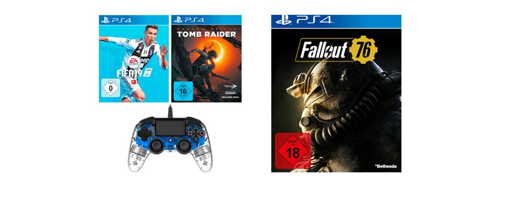 Fallout 76, FIFA 19, Tomb Raider und Nacon Controller für 89,99 Euro