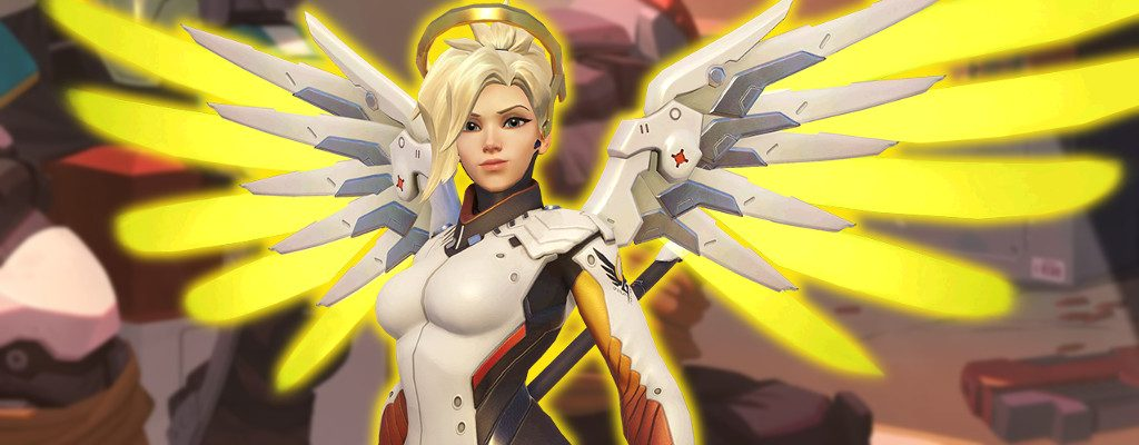 Overwatch Mercy glowing title