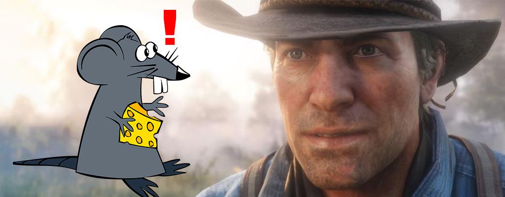 Spieler tötet Ratte in Red Dead Redemption 2, macht coole Entdeckung