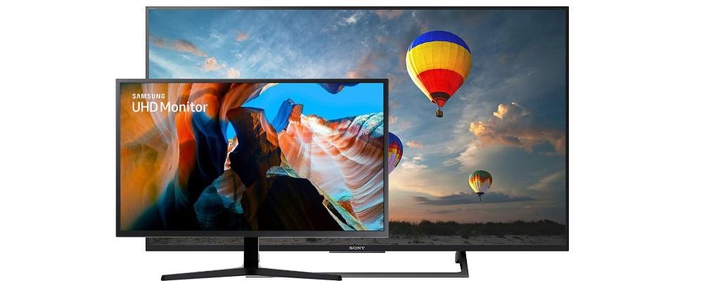 Amazon: UHD-Monitor von Samsung und UHD-TV von Sony reduziert