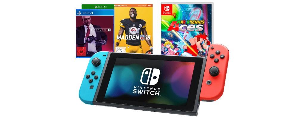 Saturn-Angebote: Switch-Bundle, Hitman 2 und weitere Spiele reduziert