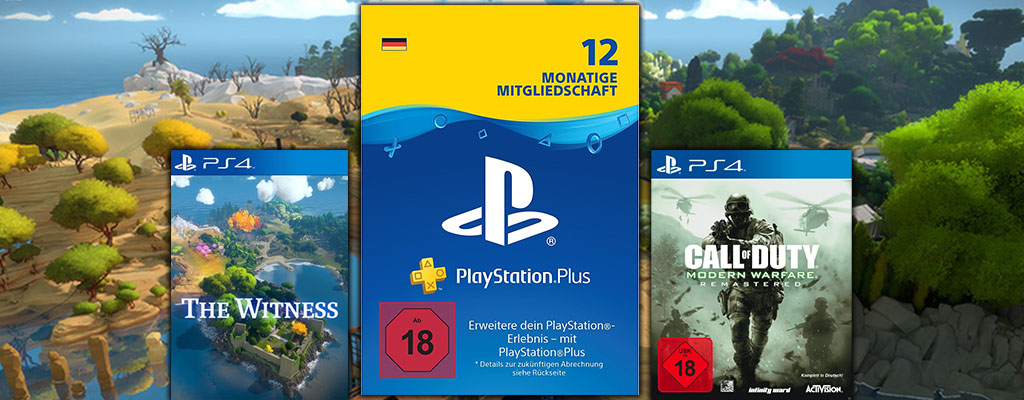 25 Prozent Rabatt auf 12 Monate PlayStation Plus Abonnement