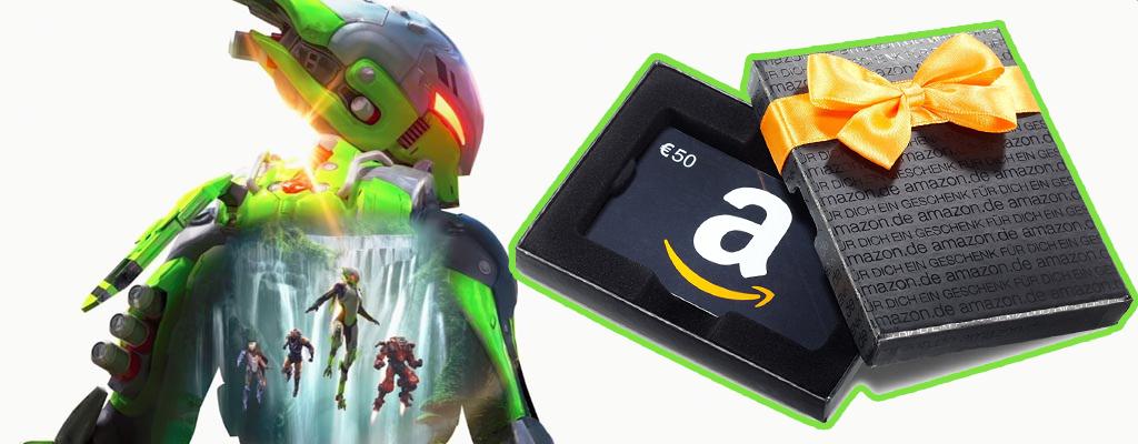 Gewinnt mit eurem User-Review zu Anthem einen Amazon-Gutschein im Wert von 50€