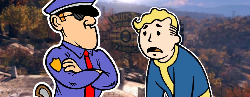 Benehmt Euch gut, denn in Fallout 76 sorgt jetzt die Polizei für Ordnung