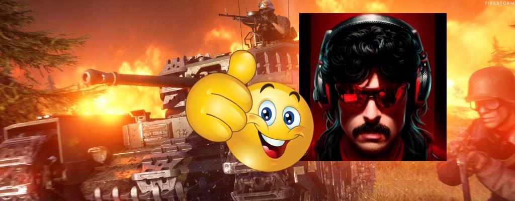 """Battlefield 5: Dr Disrespect fand Firestorm erst doof – nun nennt er's """"AAA-PUBG"""""""