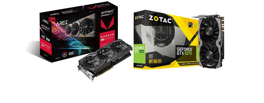 ZOTAC GTX 1070 Mini und ASUS RX Vega 64 stark reduziert