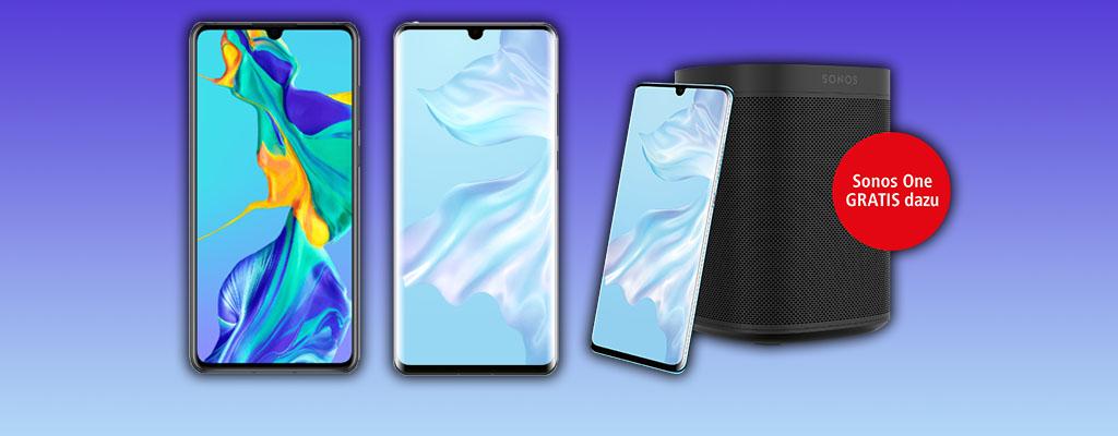 Huawei P30 und P30 Pro vorbestellen und Sonos One gratis erhalten